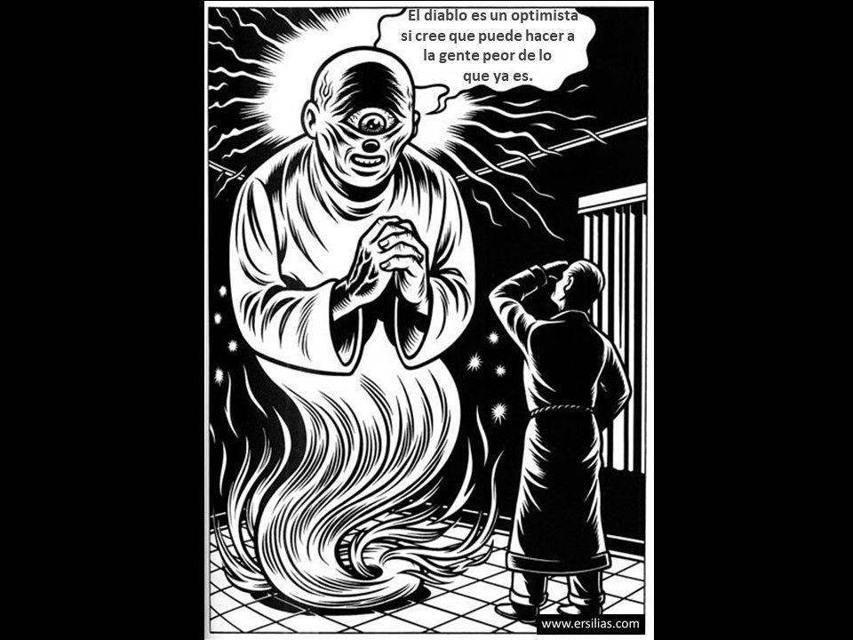 El diablo es un optimista Viñeta filosófica nº 103 de David Pérez Pol