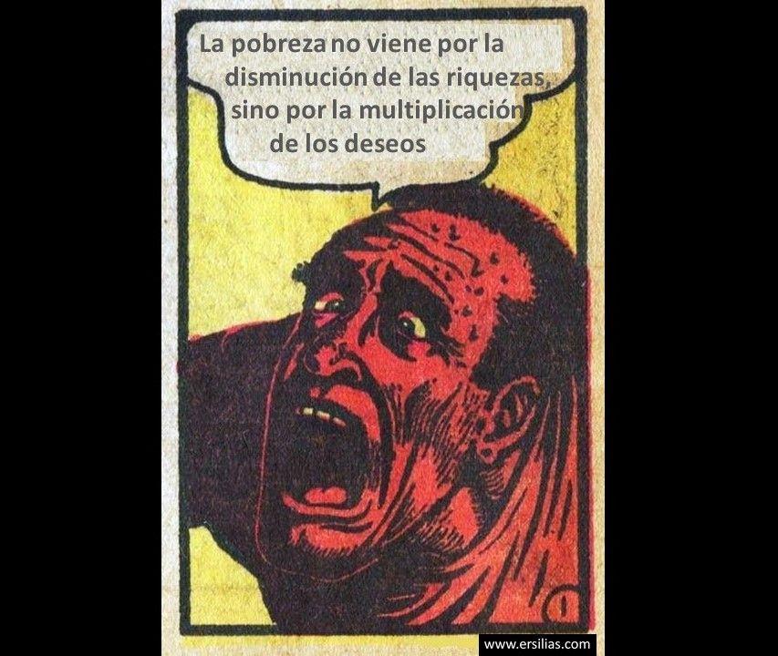 La pobreza no viene por Viñeta filosófica nº 37