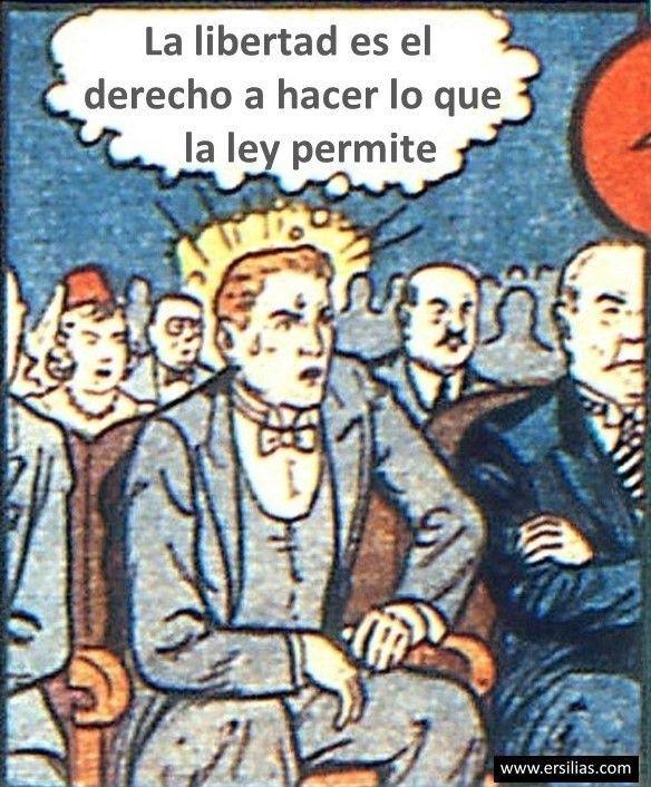 La libertad es el derecho Viñeta filosófica nº 38 de David Pérez Pol