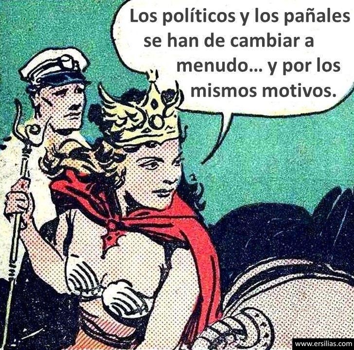 Los políticos y los pañales Viñeta filosófica nº 60 de David Pérez Pol