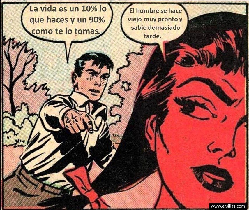 La vida es un 10% Viñeta filosófica nº 63 de David Pérez Pol