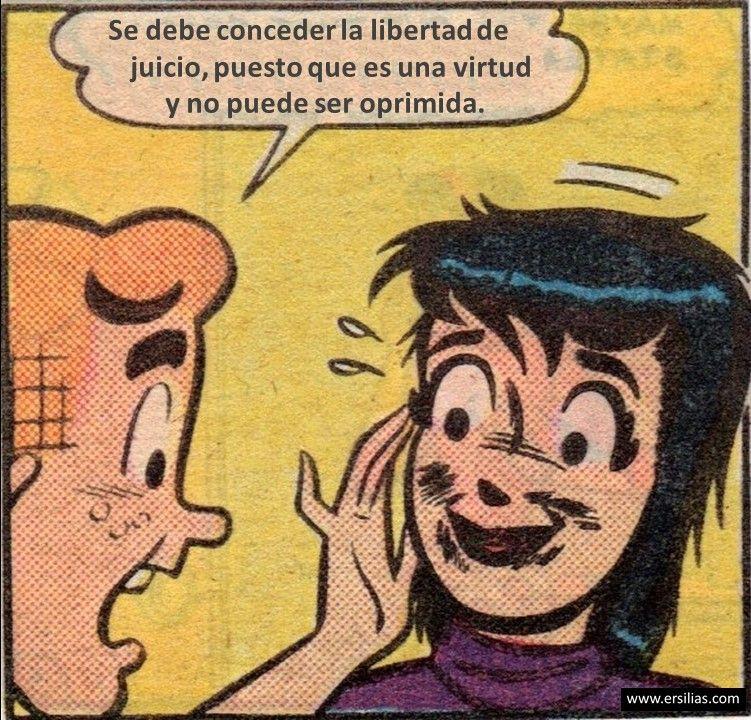 Se debe conceder la libertad Viñeta filosófica nº 80 de David Pérez Pol