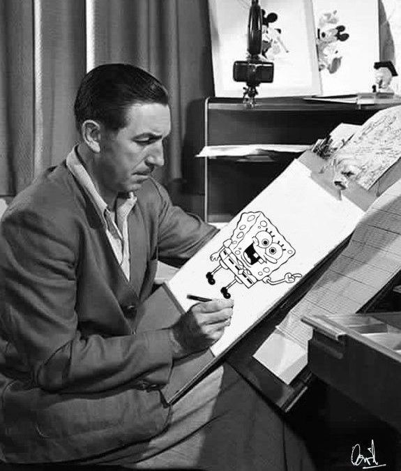 Walt Disney y Bob Esponja