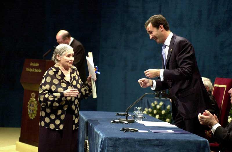 Discurso de Doris Lessing al recoger el Premio Príncipe de Asturias de las Letras 2001