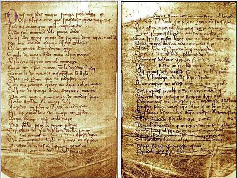 El Cantar de Roncesvalles, anónimo, Siglo XIII