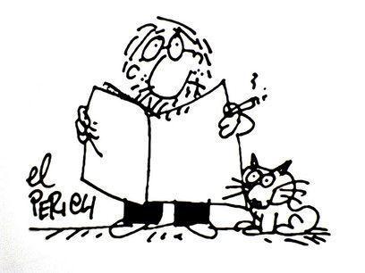El Perich y su gato