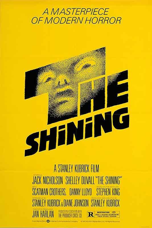 Cartel de El resplandor dirigida por Stanley Kubrick, 1980