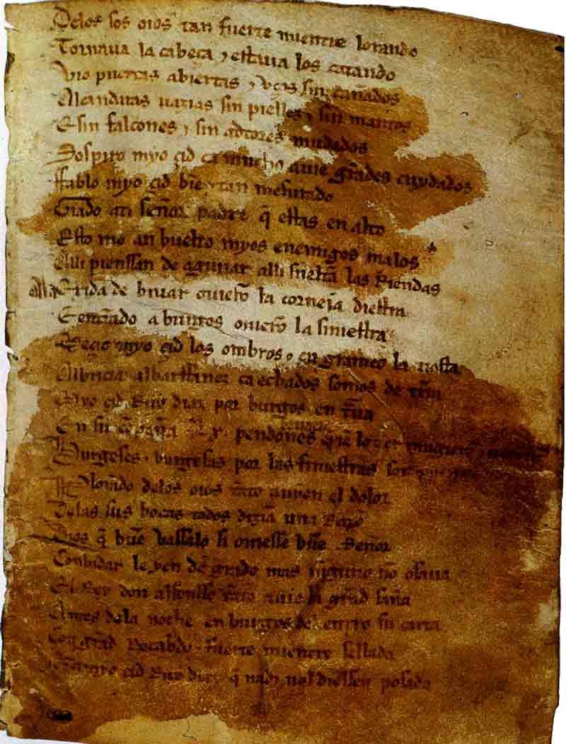 Cantar del Mío Cid, anónimo, 1200