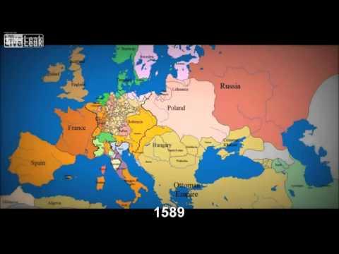 1000 años de evolución de las fronteras europeas