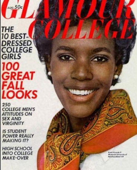 Glamour collage (1ª mujer negra en portada)