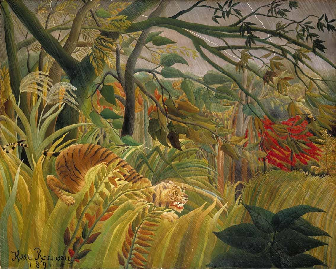 Henri Rousseau, pintor, Laval (Francia), 1844-1910