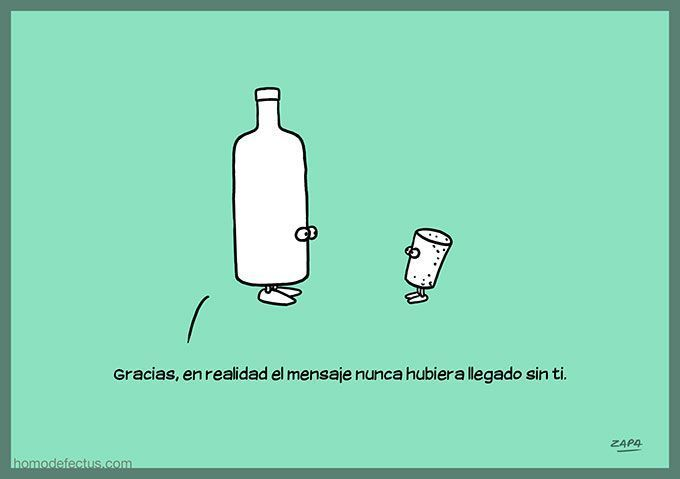 Mensaje en la botella Humor Gráfico nº 182