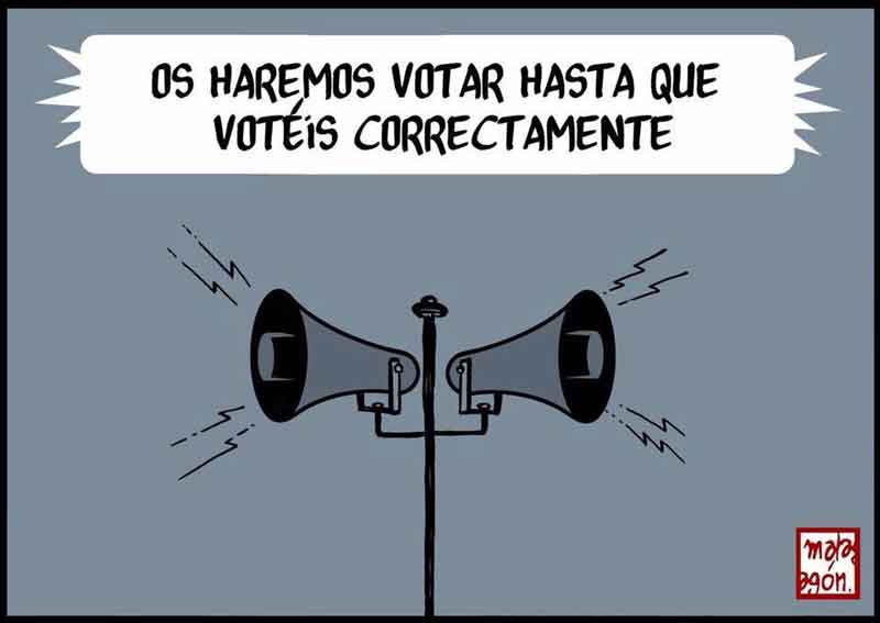 Os haremos votar Humor Gráfico 185