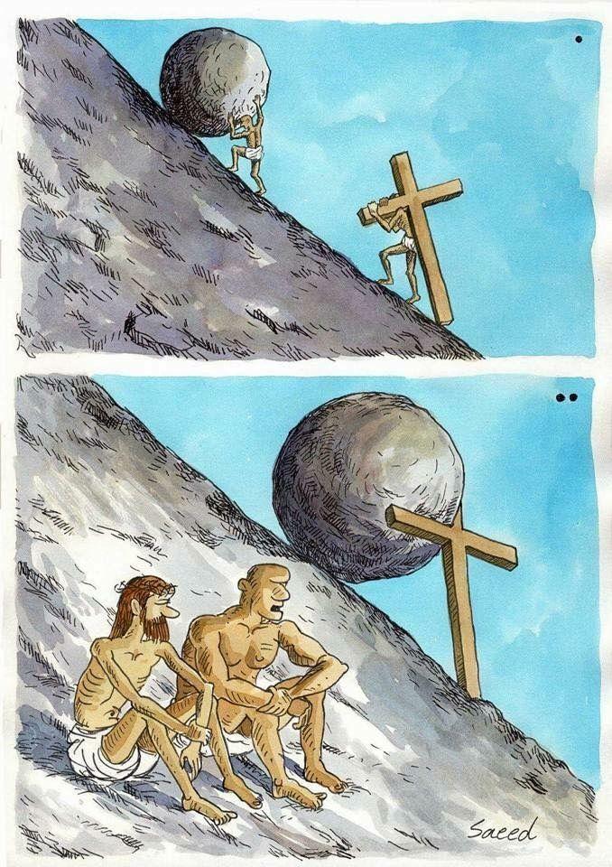 Sísifo y Jesucristo Humor Gráfico nº 99