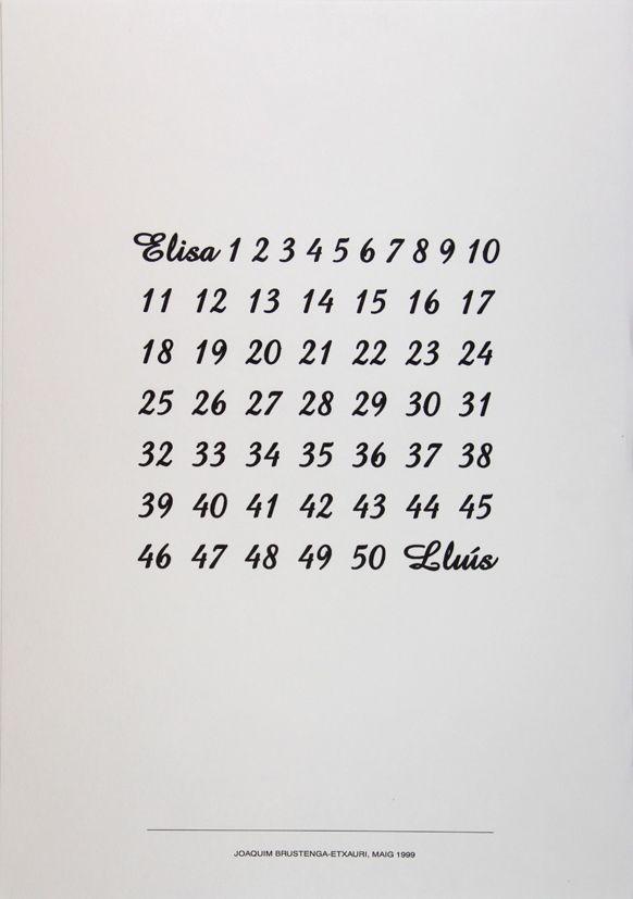Poesía Visual de Joaquim Brustenga