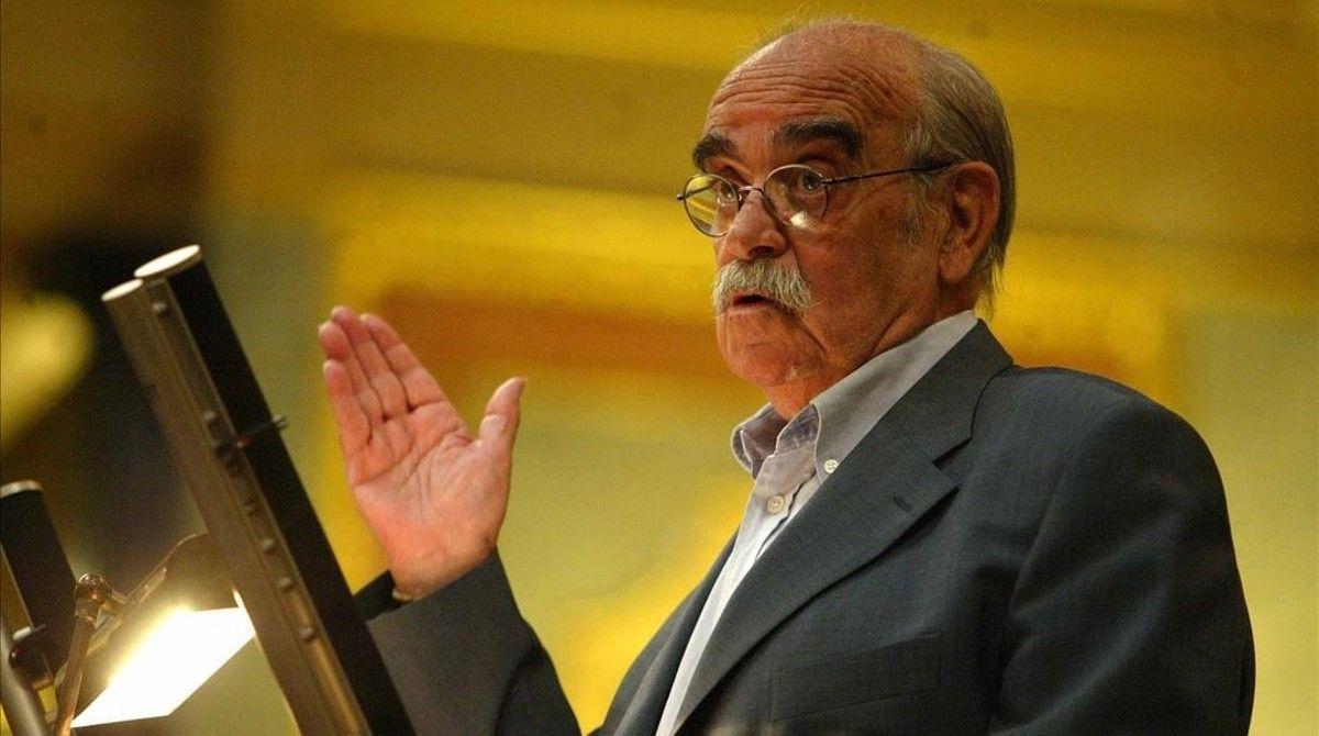 José Antonio Labordeta 5 de marzo de 2003 en el Congreso de los Diputados