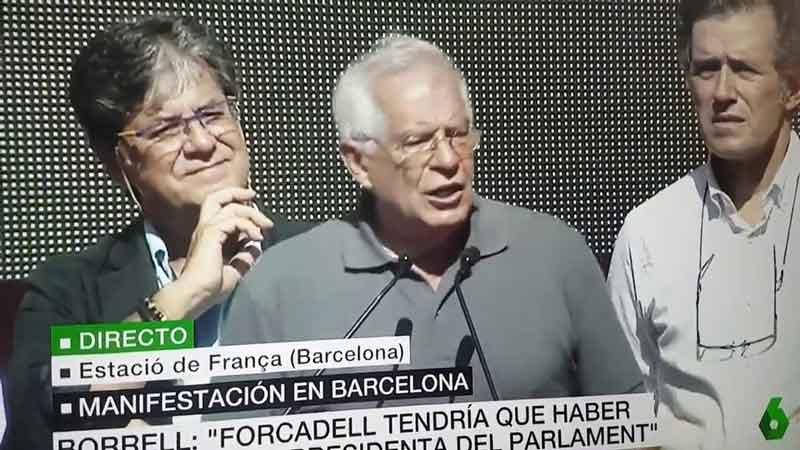 Discurso de Josep Borrell en la manifestación unionista de Barcelona del 8 de octubre de 2017