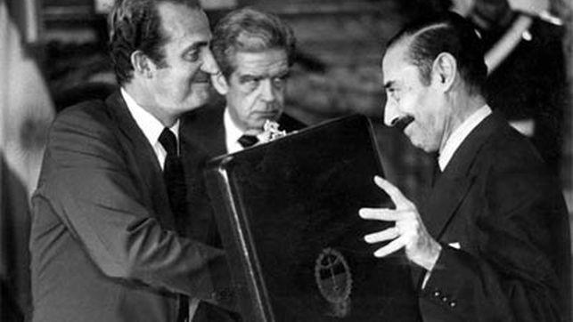 Juan Carlos I con el General Videla