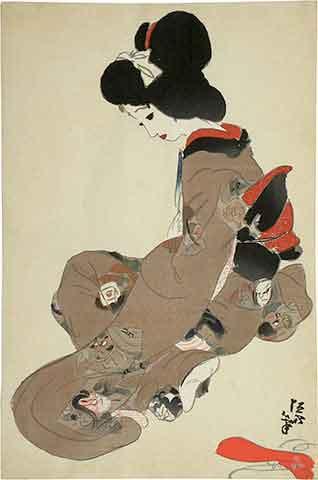 Kitano Tsunetomi, pintor, Japón, 1880-1947