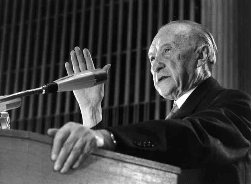 Sobre las posibilidades de la integración europea, discurso de Konrad Adenauer pronunciado el 25 de septiembre de 1956