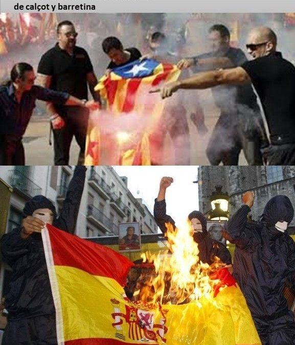 La quema de la bandera