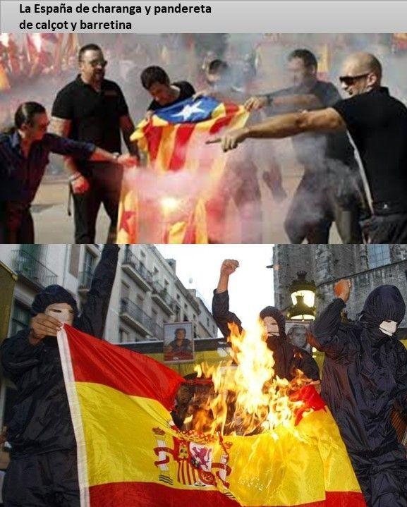 La quema de la bandera - La España de charanga y pandereta nº 5