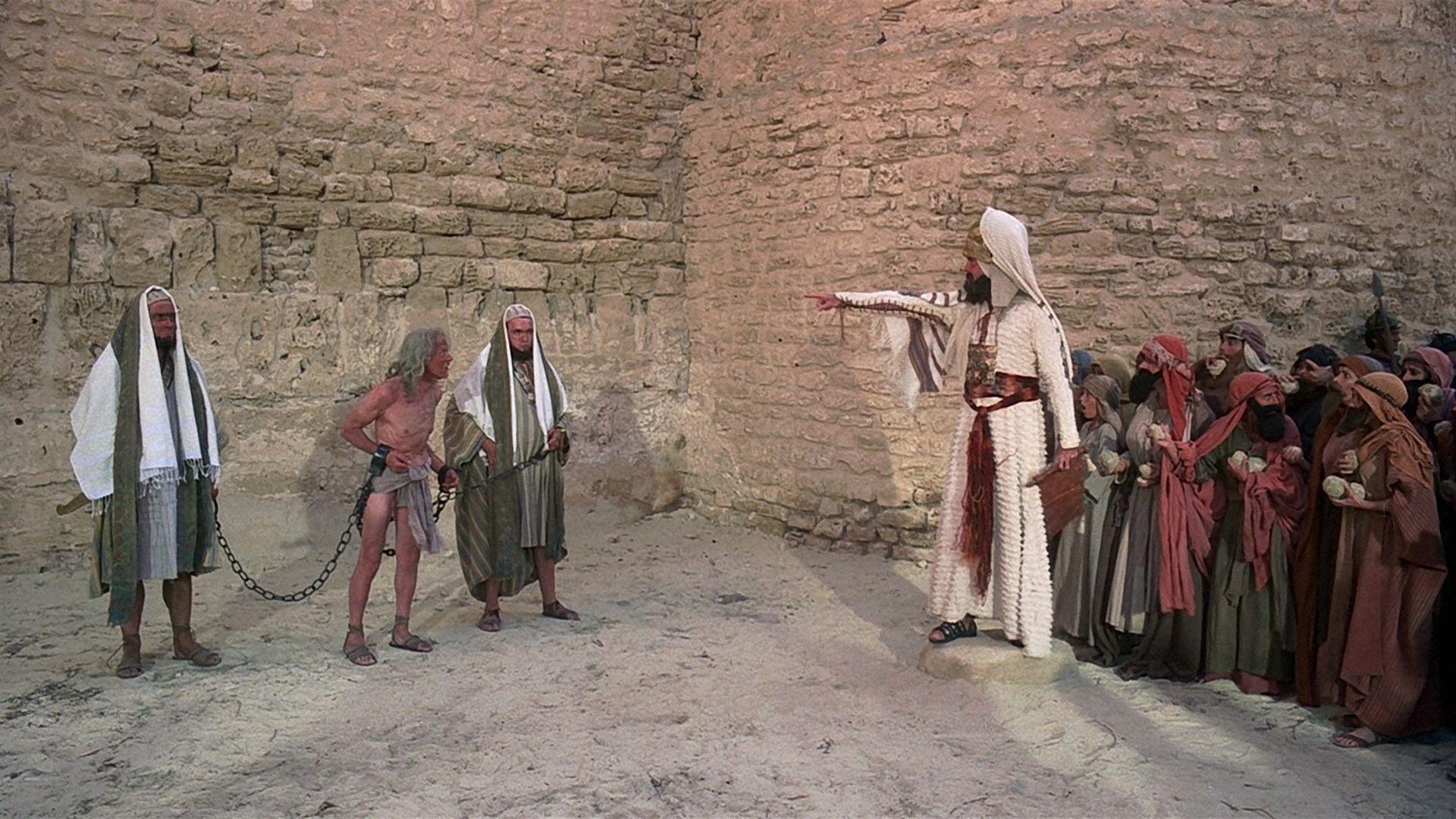 Escena lapidación de La vida de Brian (1979) de Monty Python