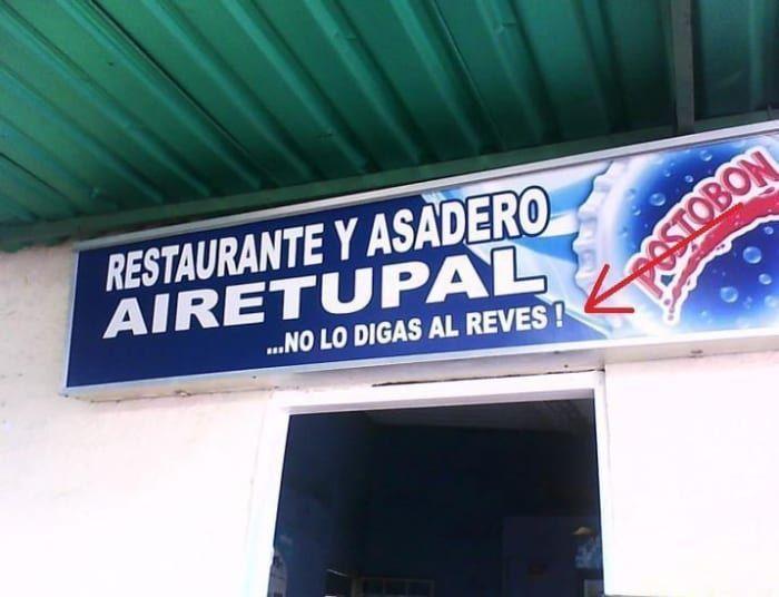 Restaurante y asadero - Letrero nº 129 Poesía Visual anónima