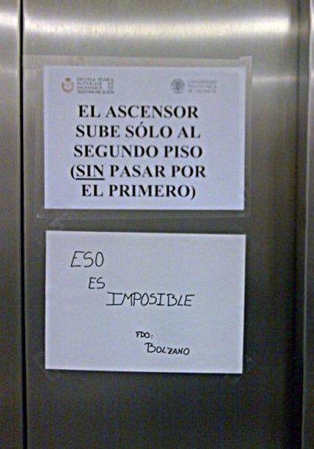 El ascensor sólo sube