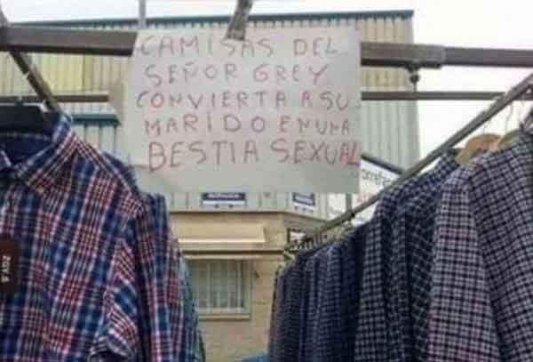 Camisas del señor Grey - Letrero nº 181 Poesía Visual anónima