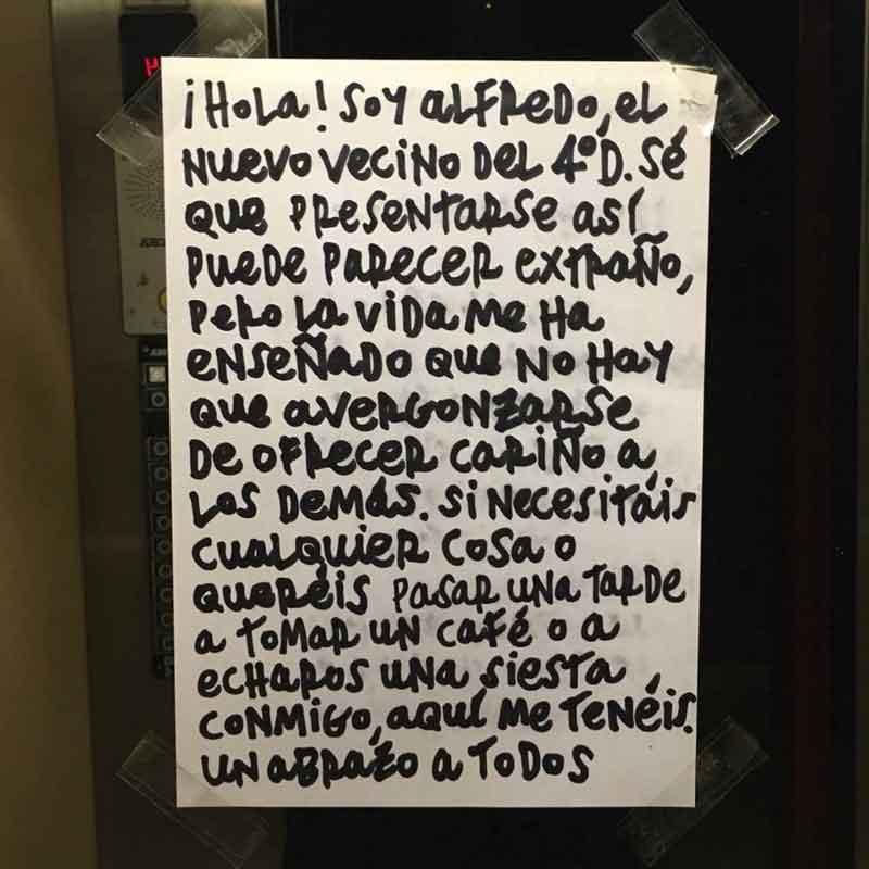 Hola soy Alfredo - Letrero nº 182 Poesía Visual anónima