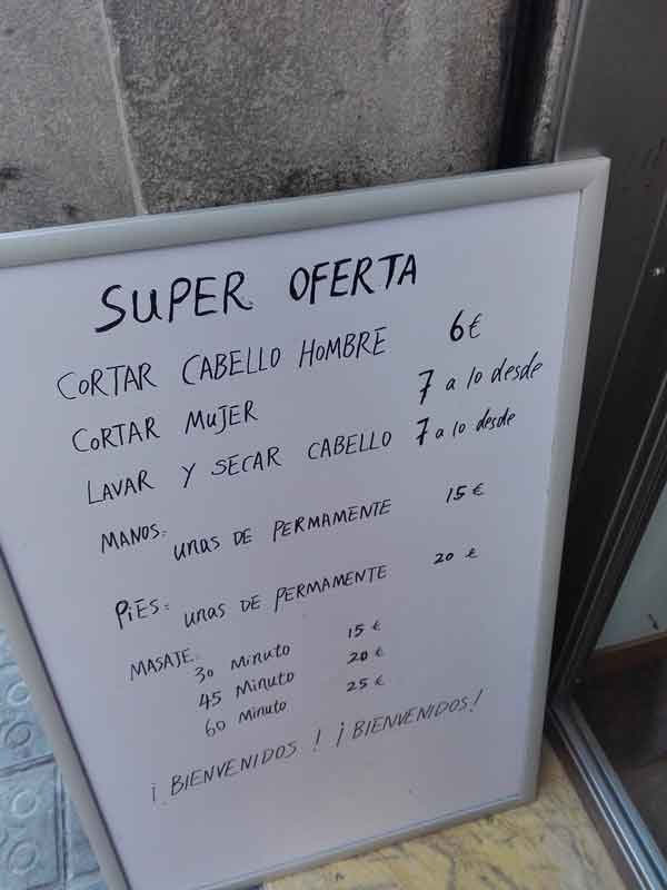 Super oferta - Letrero nº 184 Poesía Visual anónima