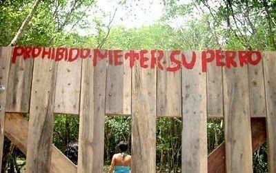 Prohibido meter - Letrero nº 2 Poesía Visual anónima