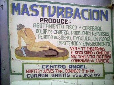 Masturbación produce - Letrero nº 60 Poesía Visual anónima