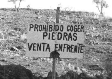 Prohibido coger piedras