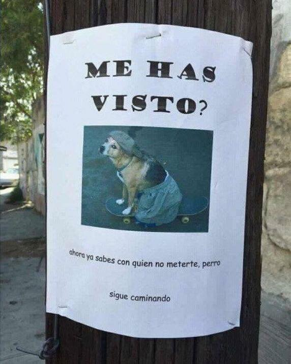 Me has visto - Letrero nº 78 Poesía Visual anónima