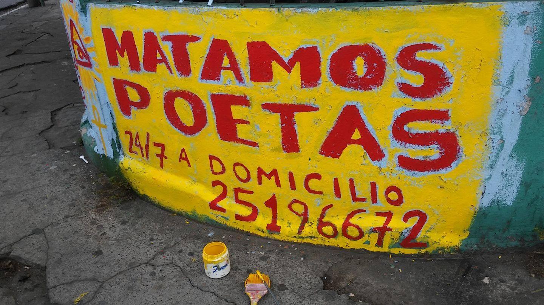 Matamos poetas - Letrero nº 90 Poesía Visual anónima