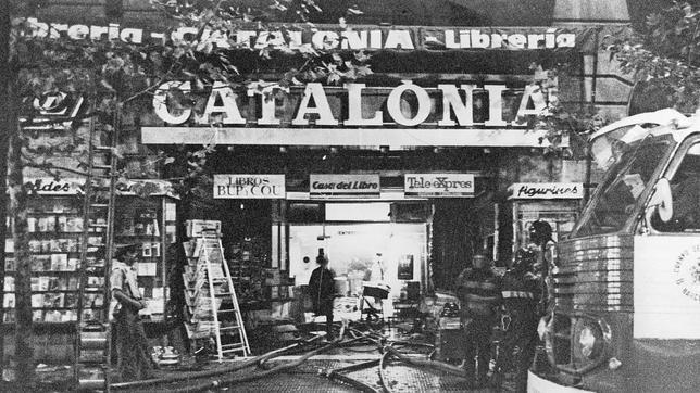 1979, incendio en la librería Catalonia