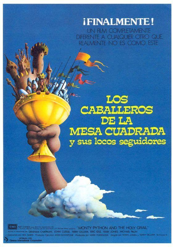 """Escena """"El caballero negro"""" de la película """"Los caballeros de la mesa cuadrada"""", 1975"""