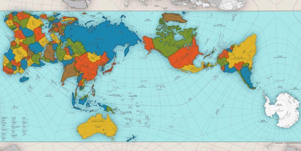 El mapa que muestra al mundo como es realmente. Mapa real del planeta Tierra