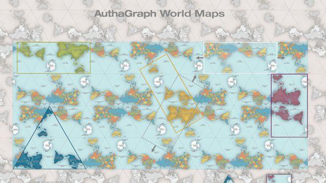 Mapa del planeta Tierra