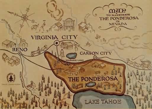 Mapa de La Ponderosa