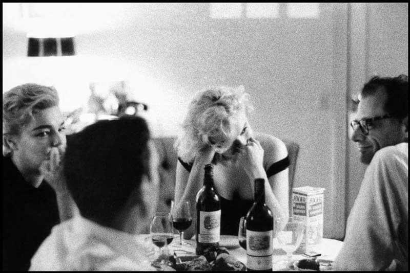 Marilyn Monroe, Arthur Miller, Simone Signoret, Yves Montand