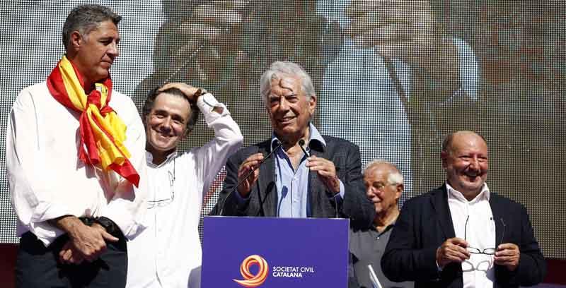 Discurso de Mario Vargas Llosa en la manifestación unionista de Barcelona el 8 de octubre de 2017