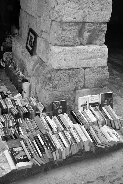 Mercado dominical Sant Antoni (Barcelona) Venta libros segunda mano