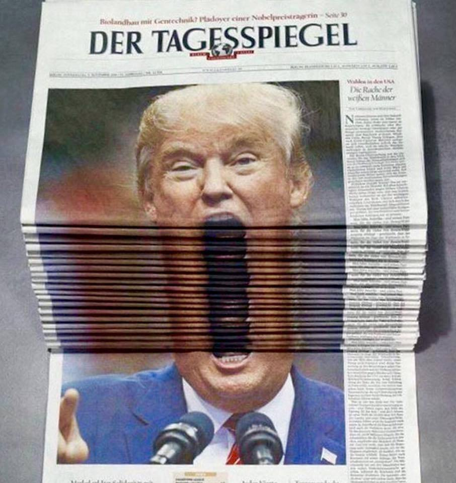Noticias - Poesía Visual anónima - Repartidor de periódicos