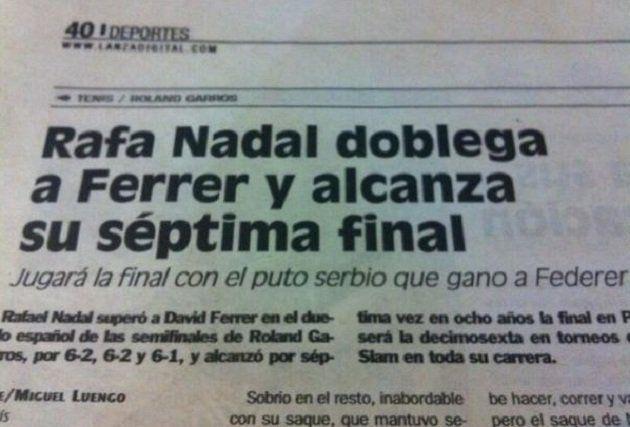 Noticia nº 35 - Rafa Nadal doblega