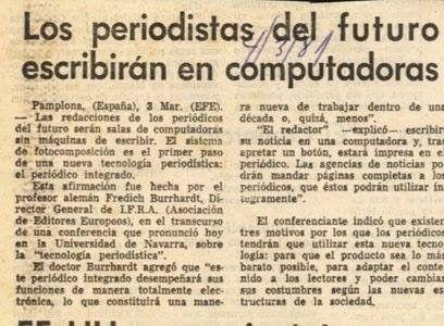 Noticia nº 45 - Los periodistas del futuro