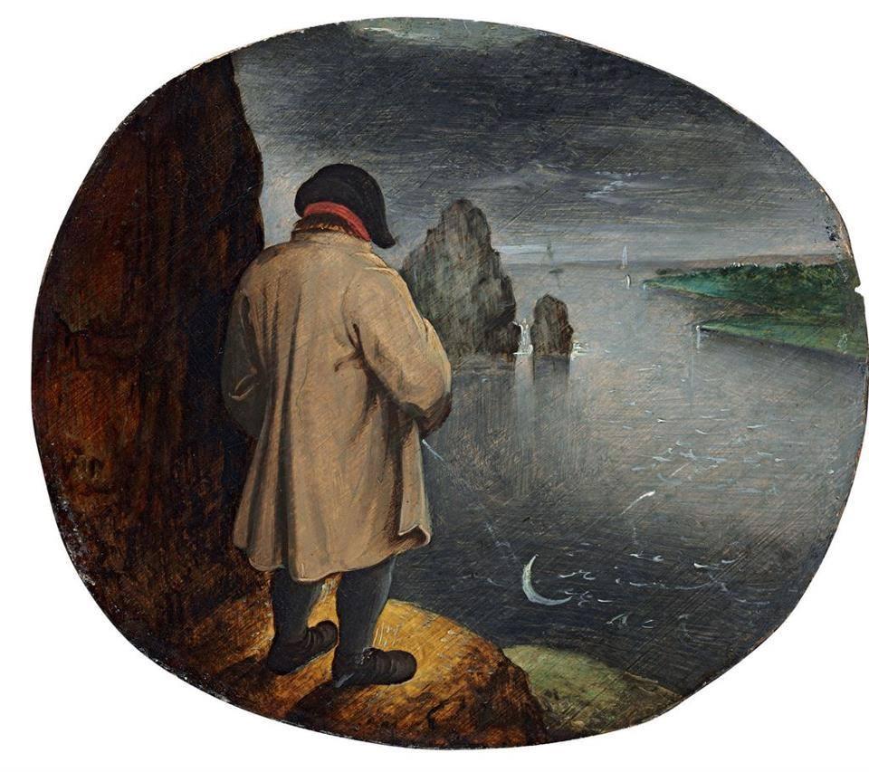 Orinar contra la luna (Querer lo imposible) (1559) - Proverbios flamencos de Pieter Brueghel el Viejo