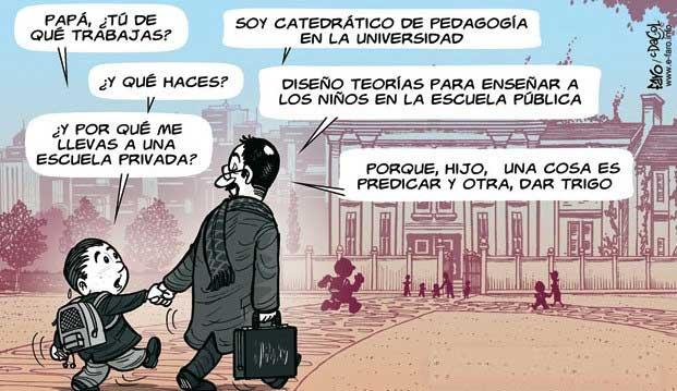 La pedagogía ha dejado la enseñanza en los huesos, Ricardo Moreno
